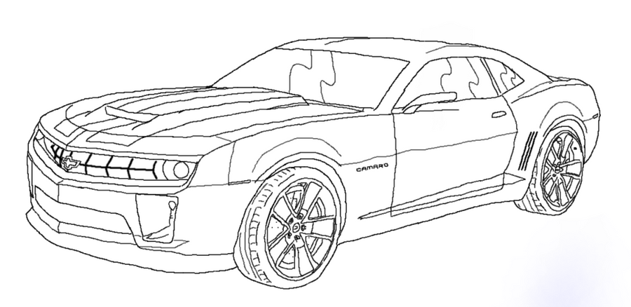 Camaro Tracing Colouring Pages