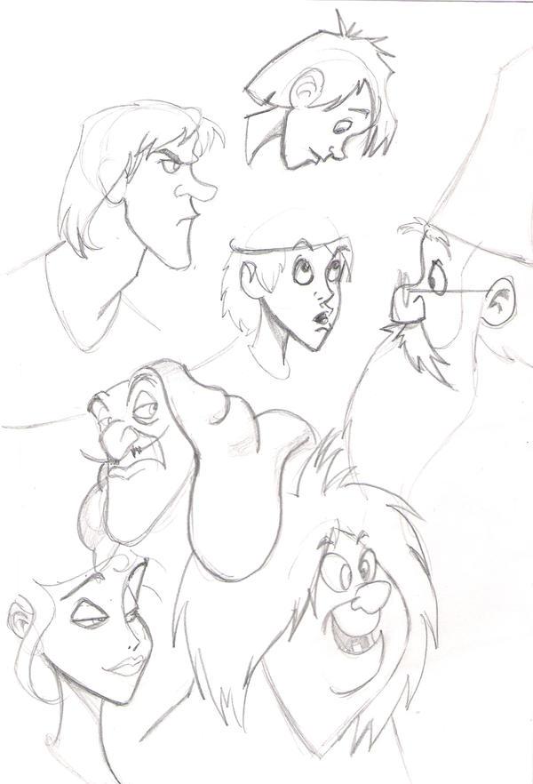 disney sketches by EmanuelMacias