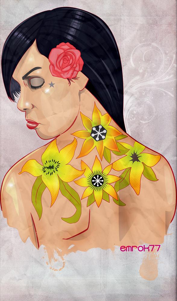 flower pinup by EmanuelMacias