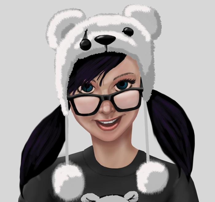 Albino Panda Girl by EmanuelMacias