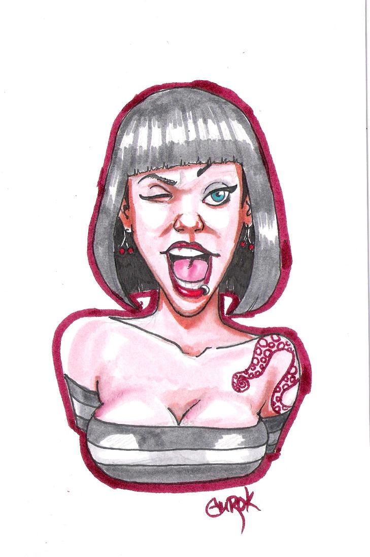pinup sketch by EmanuelMacias