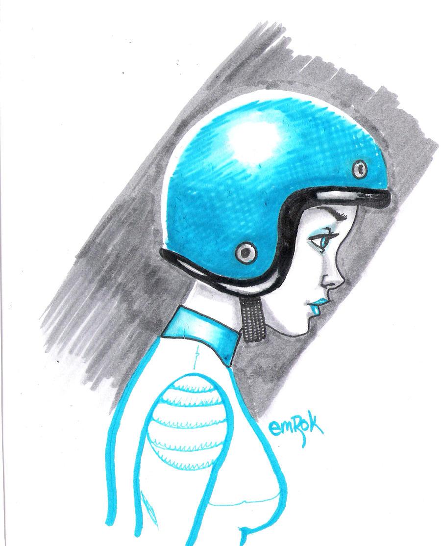 Helmet sketch by EmanuelMacias