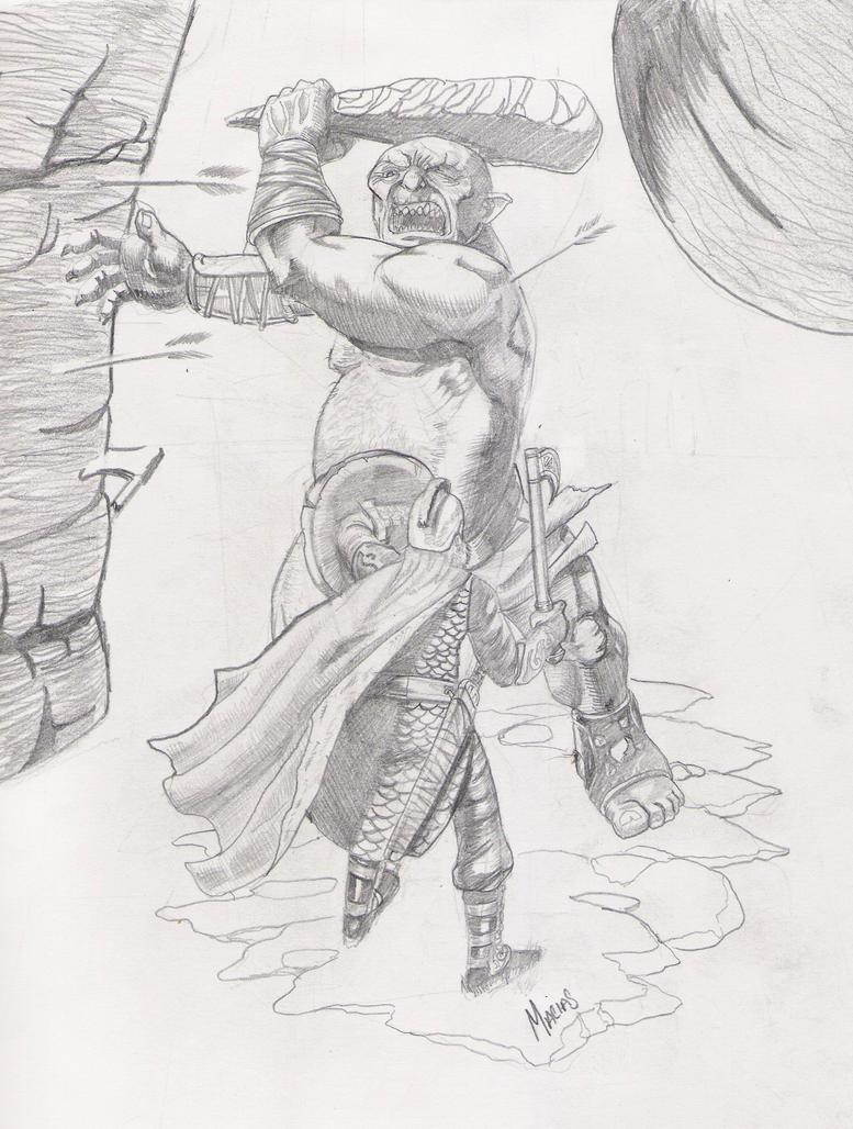 Lord of the rings sketch by EmanuelMacias