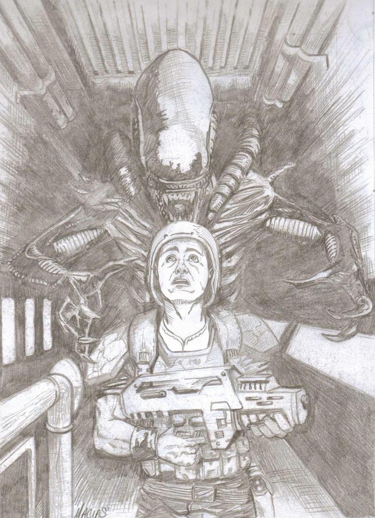 Aliens pencil by EmanuelMacias