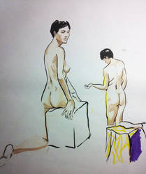 Live figure drawing 10 minutes by EmanuelMacias