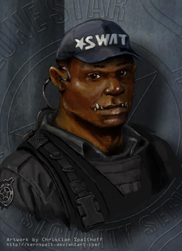 SWAT Orc Portrait by Kernspalt on DeviantArt
