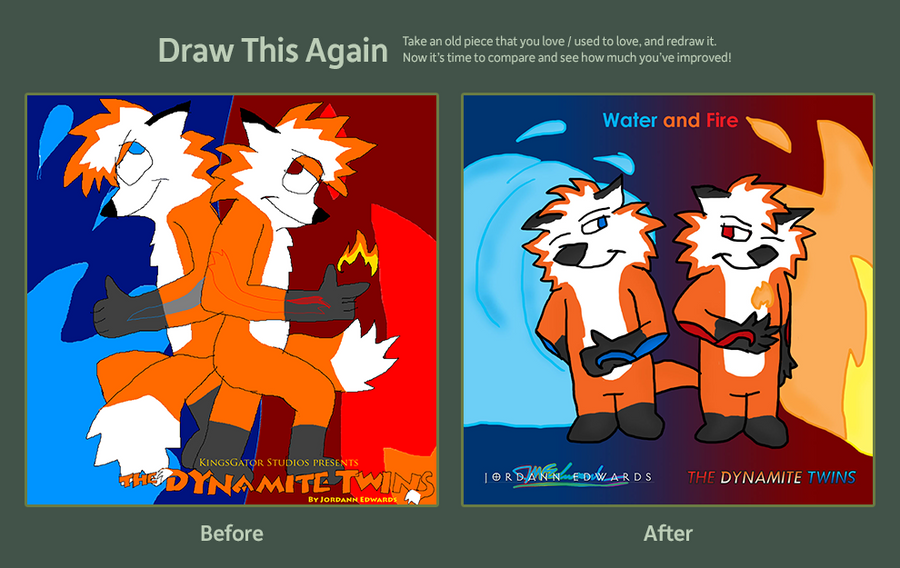 Draw This Again - Water and Fire by JWthaMajestic