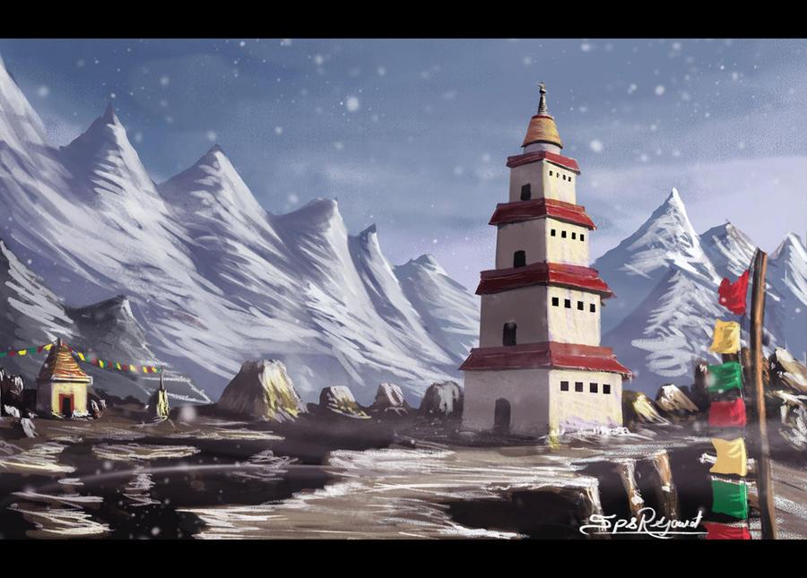 Tibet temple by surendrarajawat