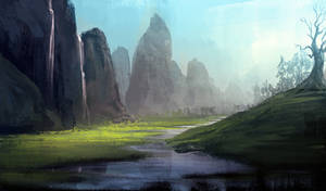 Lanscape speed painting tuts- 4 by surendrarajawat