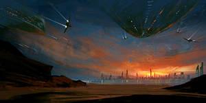 Sunset Invasion speed paint