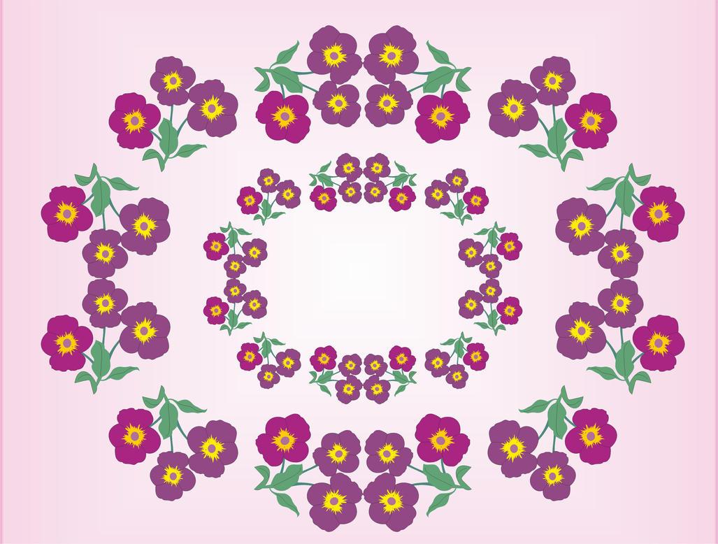violet seamless pattern by B0RTECENE