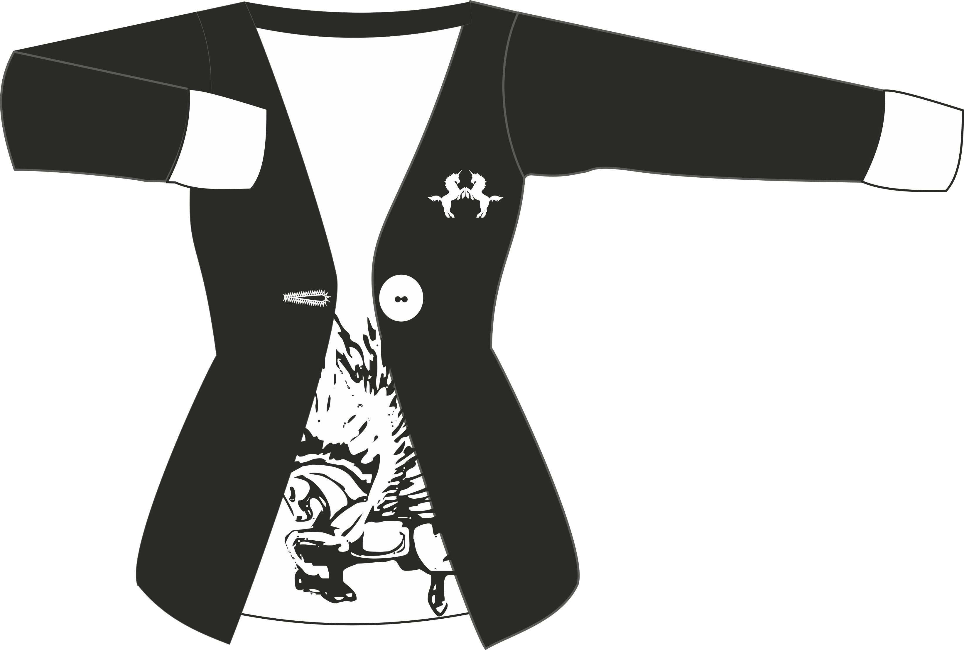 pegasus printed jacket by B0RTECENE