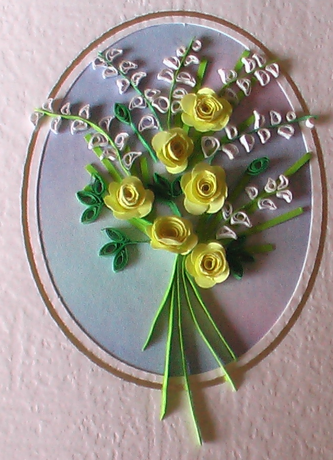 Paper quilled card by Craftcove