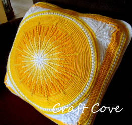 Sunburst Mandala Cushion by Craftcove