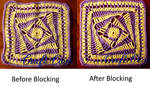 Before and after Blocking by Craftcove