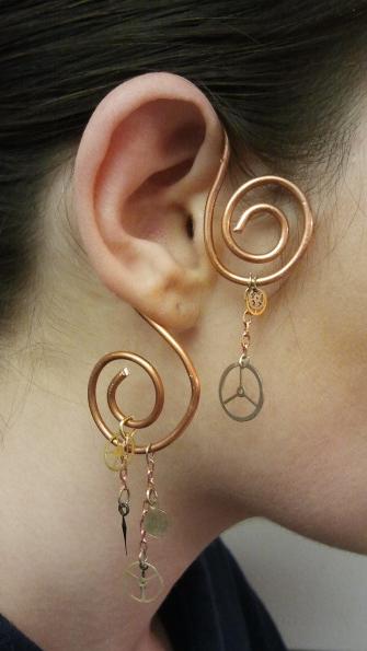 Steampunky Earring by Antiquity-Dreams