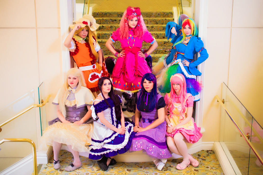 My Little Pony Lolita Themed Group by Antiquity-Dreams