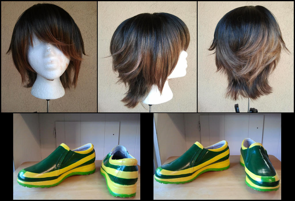 Commission: Original Character Wig and Shoes by Antiquity-Dreams