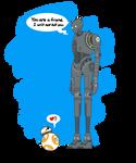 Star Wars  - K-2SO and BB-8 Art