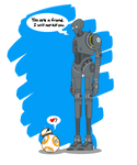 Star Wars  - K-2SO and BB-8 Art