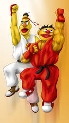Sesame Street Fighter by gavacho13