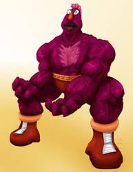 Sesame Street Fight: Zellygief by gavacho13