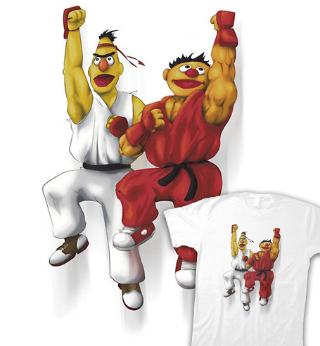 Sesame Street Fighter T-shirts by gavacho13