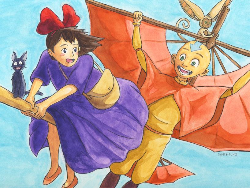 Kiki and Aang by gavacho13