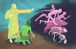 Christ vs Legion by gavacho13