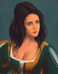 Liz Taylor in Taming Of The Shrew (1967) by gavacho13