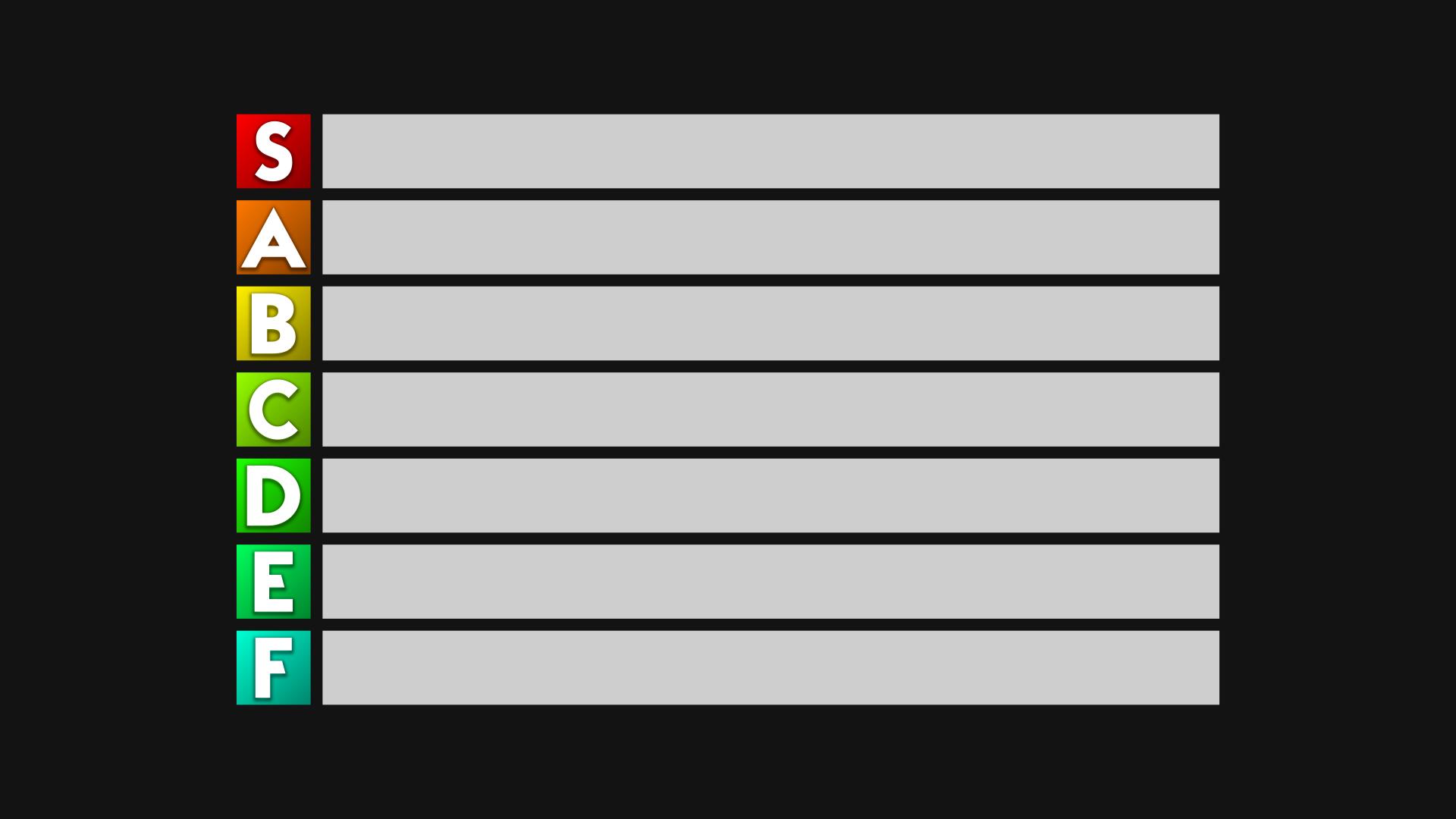 Tier List Template 1 By Darkvoidpictures On Deviantart