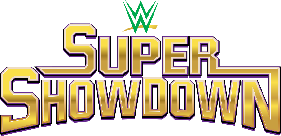 Image result for wwe super showdown logo 2019
