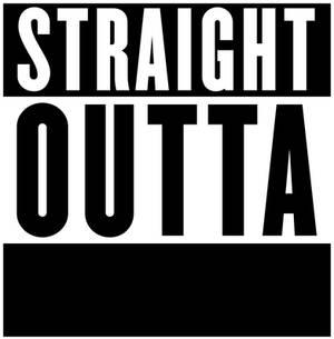 Straight Outta Logo Template