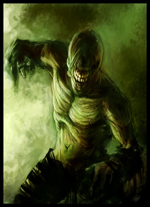 Zombie Dude by DavidRapozaArt