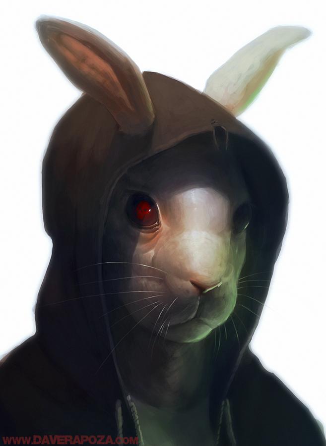 Bunny by DavidRapozaArt