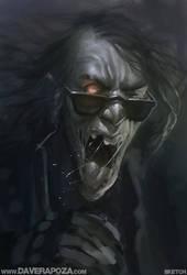 Thrash Zombie Dude - SKETCH by DaveRapoza