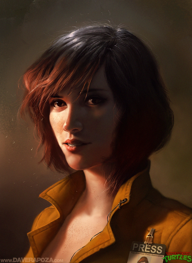 April O'Neil by DavidRapozaArt