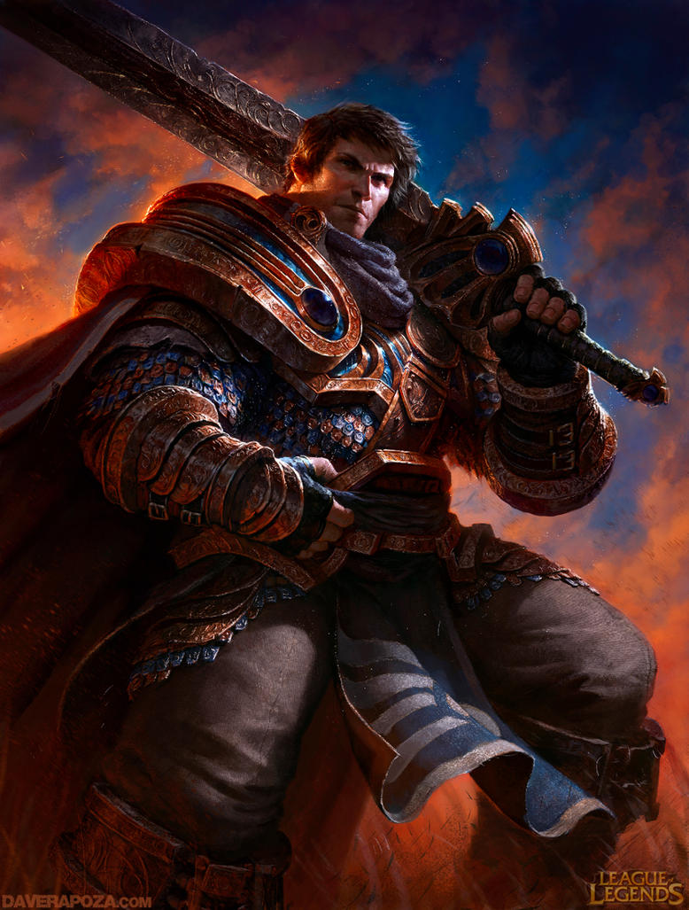 Garen League of Legends by DavidRapozaArt