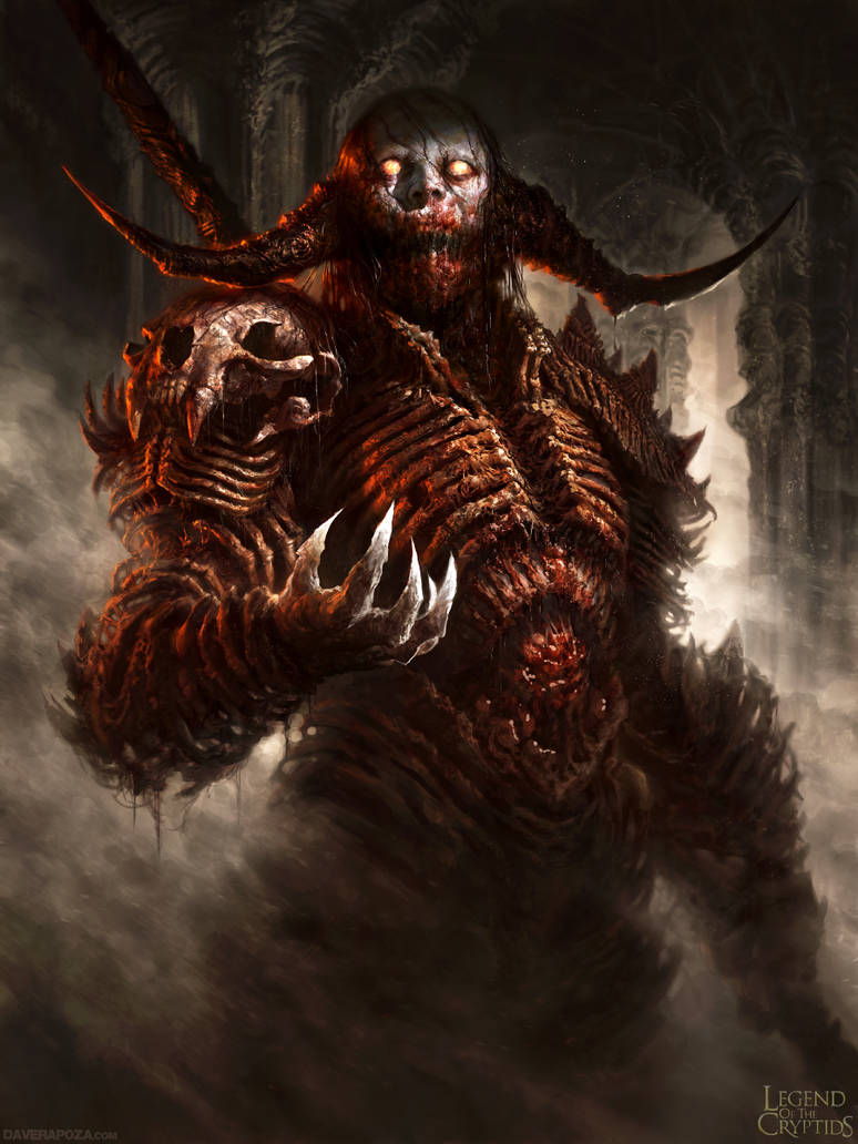 Legend of the Cryptids Demon dude ver 1 by DaveRapoza