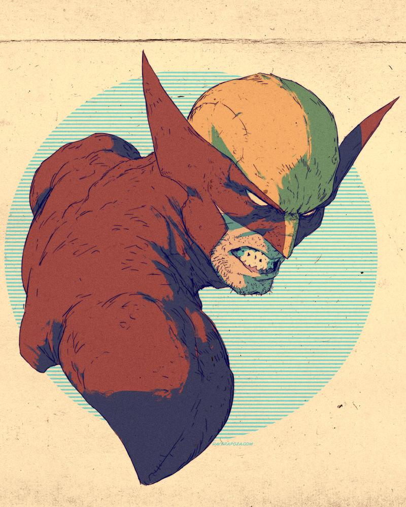 Wolverine by DavidRapozaArt
