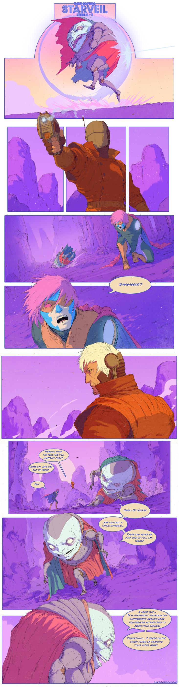 StarVeil - Nebula #7 (motion comic in description) by DavidRapozaArt