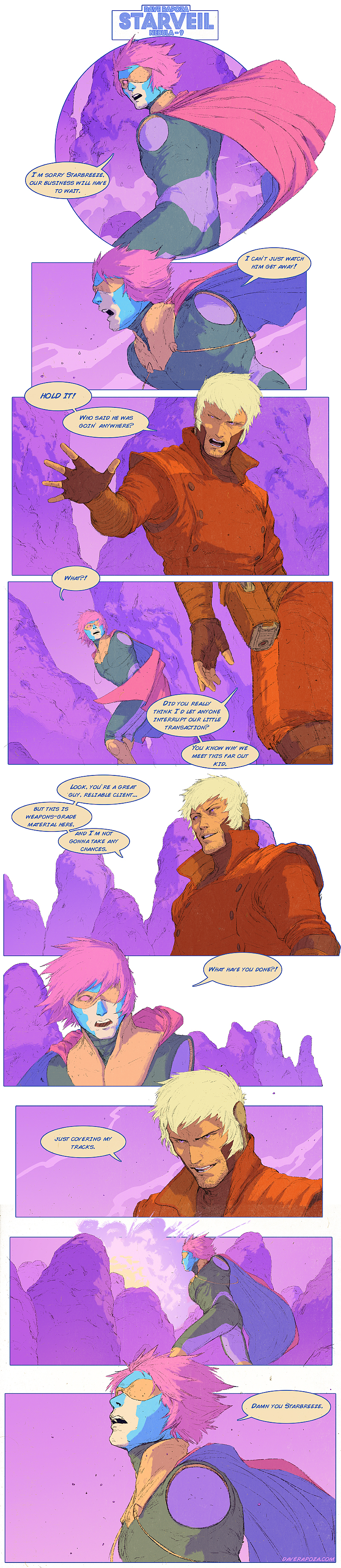 StarVeil - Nebula #9 (motion comic in description) by DavidRapozaArt