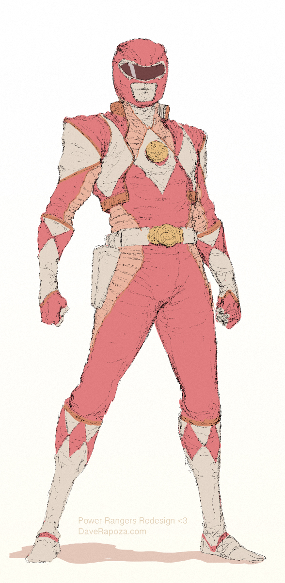 Red Ranger Redesign by DavidRapozaArt
