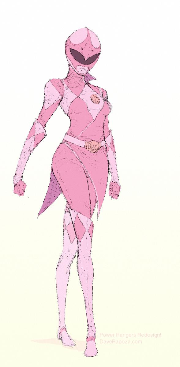 Pink Ranger Redesign by DavidRapozaArt