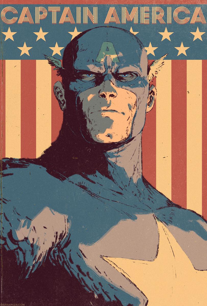 Captain America Cover by DavidRapozaArt