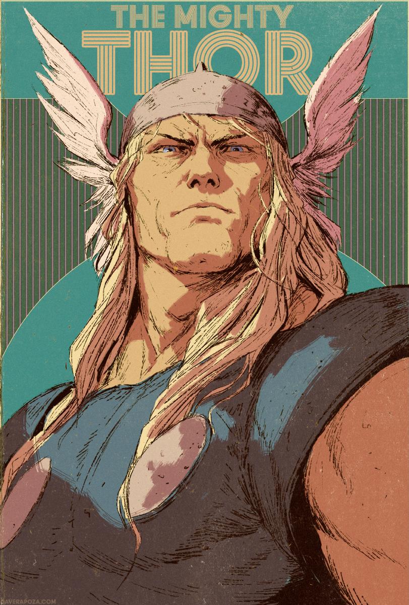 Thor Cover by DavidRapozaArt