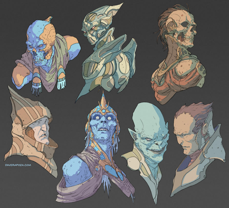 Head Concepts by DavidRapozaArt