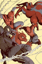 Spider-Verse Team up 001 Variant Cover by DaveRapoza