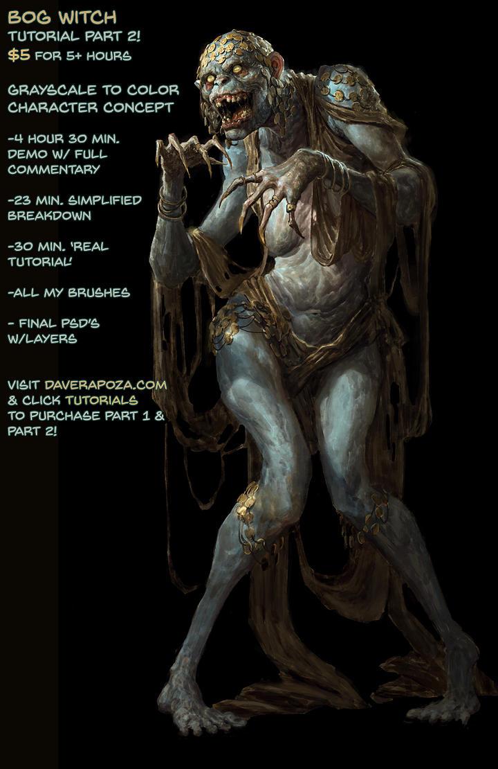 Bog Witch Tutorial part 2! by DavidRapozaArt