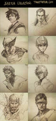 Sketch Collection! by DaveRapoza
